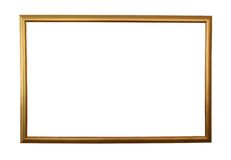Large golden frame isolated w/ path Stock Photos