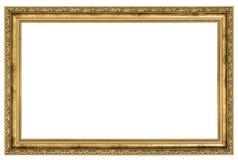 Large golden frame. Isolated on white background Stock Images