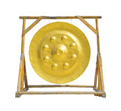 Large golden gong Stock Image