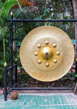 Large golden gong Royalty Free Stock Photos