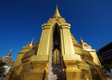 Large Golden Pagoda at Wat Phra Kaew, Bangkok Stock Images