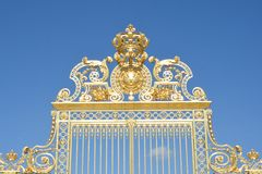 Large Golden Palace Gates Royalty Free Stock Image