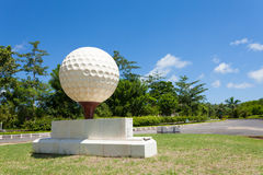 Large golf ball Royalty Free Stock Photography
