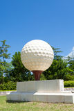 Large golf ball Royalty Free Stock Images