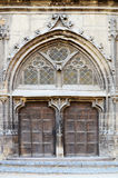 Large Gothic Door Royalty Free Stock Image
