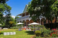 Gracious Victorian style hotel. Large, gracious Victorian hotel in rural region of Kwa-Zulu Natal, South Africa stock photography
