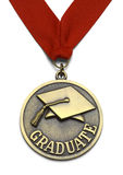Large Graduate Medal stock photography