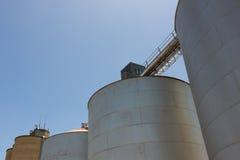 Large Grain Silos Stock Photo