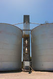 Large Grain Silos Royalty Free Stock Photography