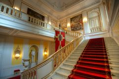 Large grand staircase. Main stairway at the Christiansborg Palace Stock Images