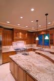 Large Granite Counter. Luxury American Kitchen Series IV Royalty Free Stock Photos