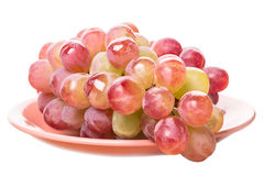 Large grapes on a plate Royalty Free Stock Images