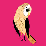 Large graphic owl Royalty Free Stock Photography