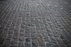 Large gray cobblestones Stock Photography