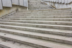 Large gray stone steps Royalty Free Stock Photography