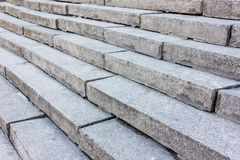Large gray stone steps. Outdoor stock images