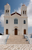 Large Greek Church on the Hill Stock Image