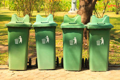 Large green bins Royalty Free Stock Photography
