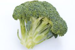 Large Green Bunch of Broccoli. On a white background Royalty Free Stock Photos