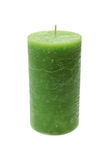 Large green burning candle Royalty Free Stock Photos