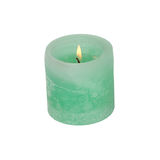Large green candle Stock Image