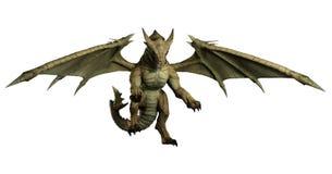 Large Green Dragon Pouncing Royalty Free Stock Photo