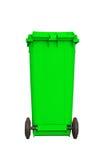 Large green garbage bin Stock Photography
