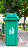 Large green garbage bin Royalty Free Stock Images
