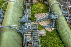 Large Green Pipes HDR Royalty Free Stock Images