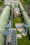 Large Green Pipes 2 Royalty Free Stock Photography
