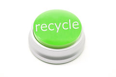 Large green Recycle button Stock Images