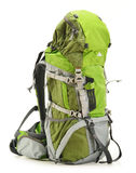 Large green touristic backpack on white Royalty Free Stock Photo