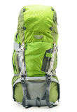 Large green touristic backpack on white Royalty Free Stock Images