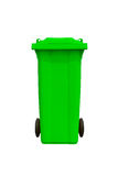 Large green trash can Royalty Free Stock Images