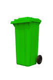 Large green trash can Stock Photo