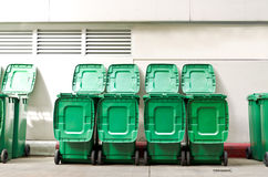 Large green trash cans Stock Image