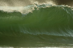 Large green wave. Breaking wave, Harris Beach State Park, Brookings, Oregon Royalty Free Stock Image
