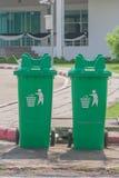 Large green wheelie bin. Royalty Free Stock Photo