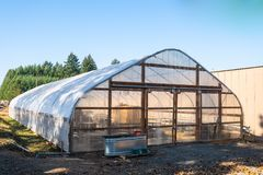 Large greenhouse on a farm royalty free stock photo