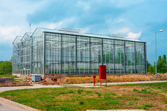 Large greenhouse outdoors Stock Photos