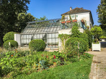 Large greenhouse in the Parc de Bercy, Paris, Royalty Free Stock Image
