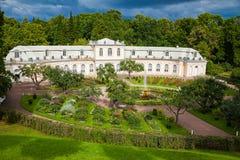 Large Greenhouse in Peterhof park Stock Image