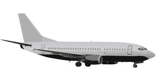 Large grey plane illustration Royalty Free Stock Images