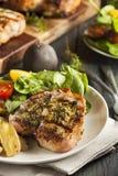Large Grilled Pork Chop Stock Photo