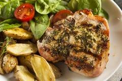 Large Grilled Pork Chop Stock Images