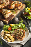 Large Grilled Pork Chop Royalty Free Stock Images