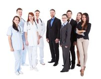 Large ground of doctors and managers Stock Photos