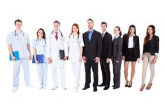 Large ground of doctors and managers Royalty Free Stock Image