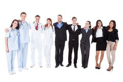 Large ground of doctors and managers Royalty Free Stock Photo