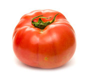 Large ground-grown tomato isolated on white Royalty Free Stock Photography